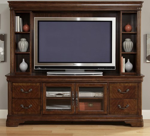 Liberty Furniture Alexandria Entertainment TV Stand & Hutch
