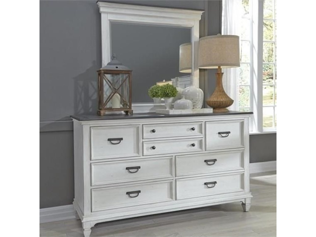 Liberty Furniture Allyson ParkDresser & Mirror