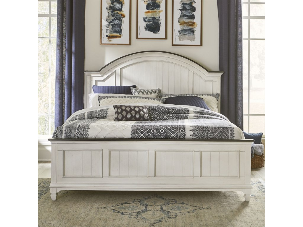 Liberty Furniture Allyson ParkKing Arched Panel Bed