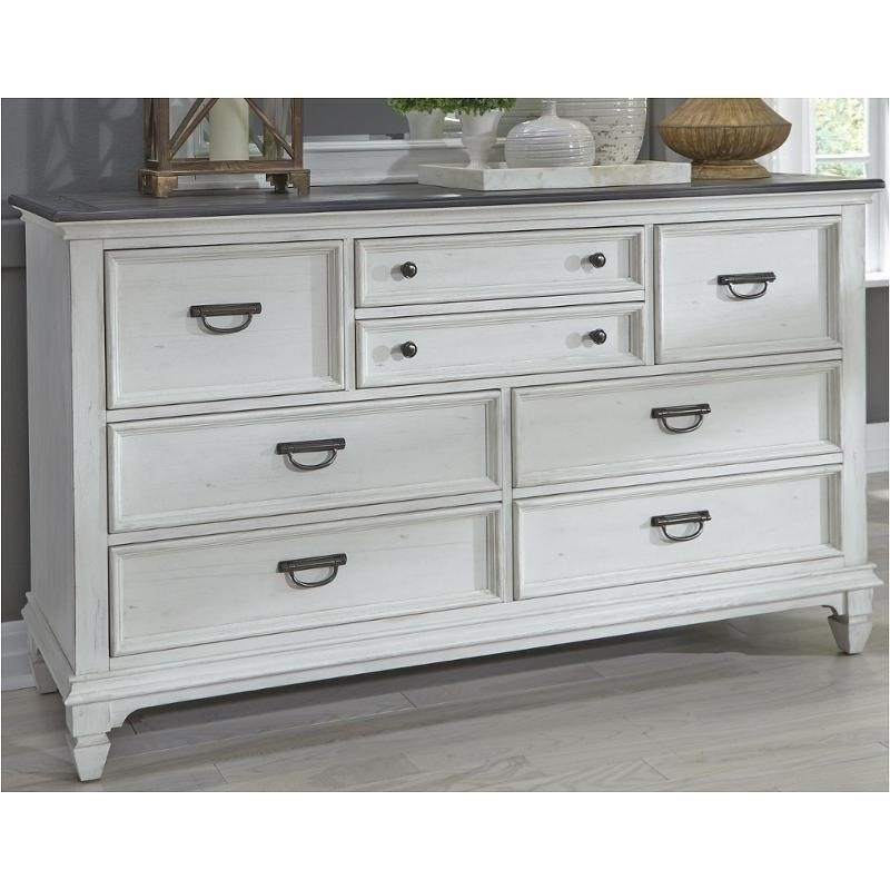 Allyson Park Cottage 8 Drawer Dresser With Antique Pewter Hardware By  Liberty Furniture