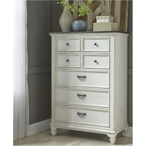 Liberty Furniture Allyson Park 5 Drawer Chest With Felt
