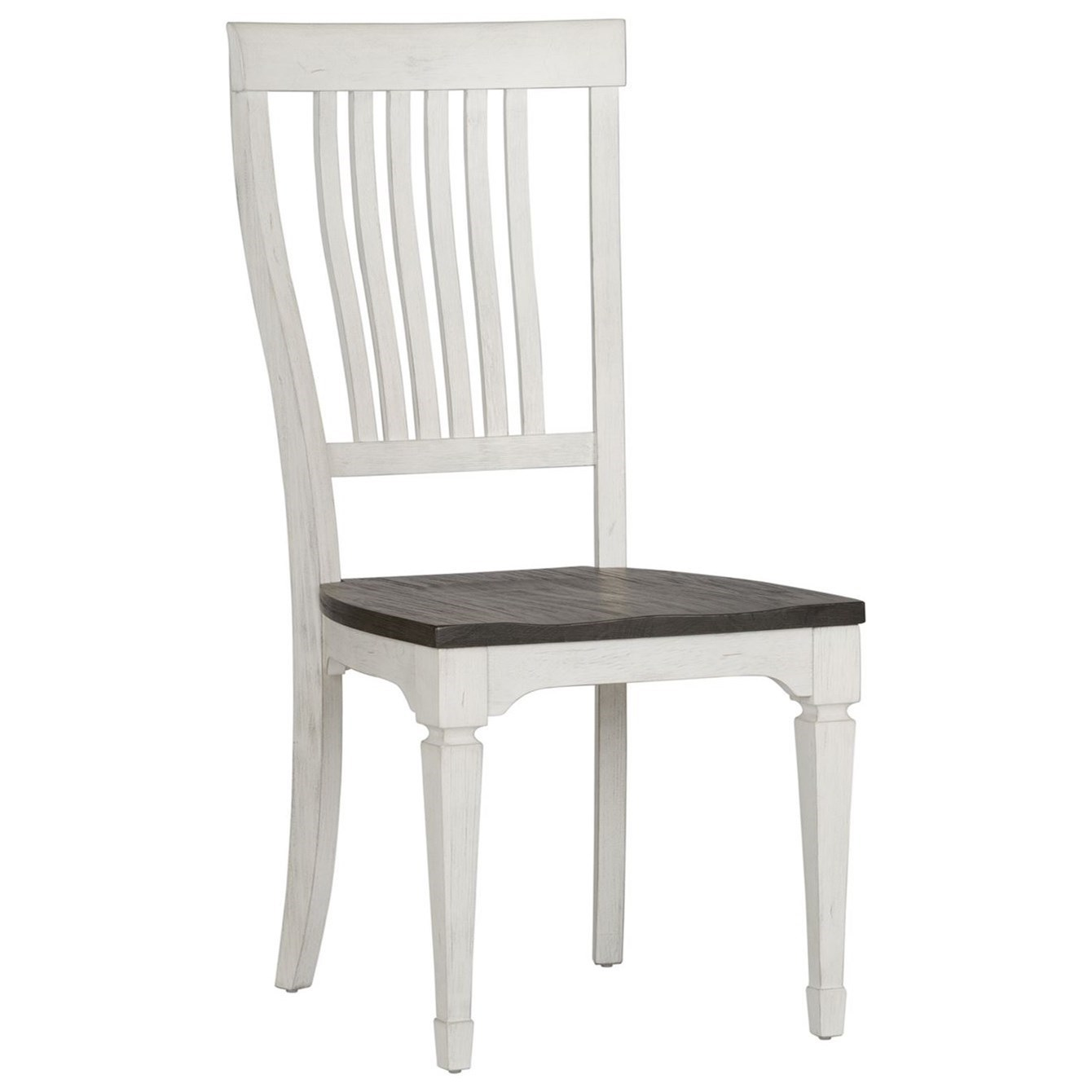 Transitional Slat Back Side Chair