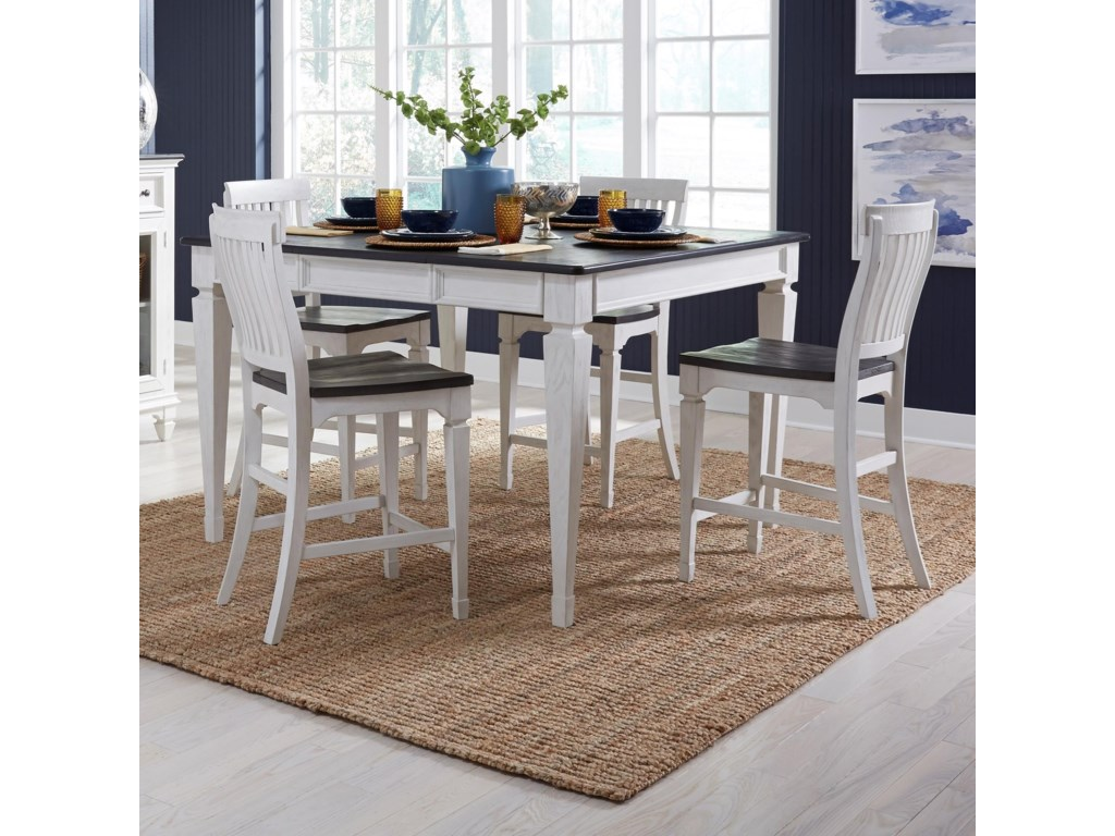 Liberty Furniture Allyson Park5-Piece Gathering Table Set