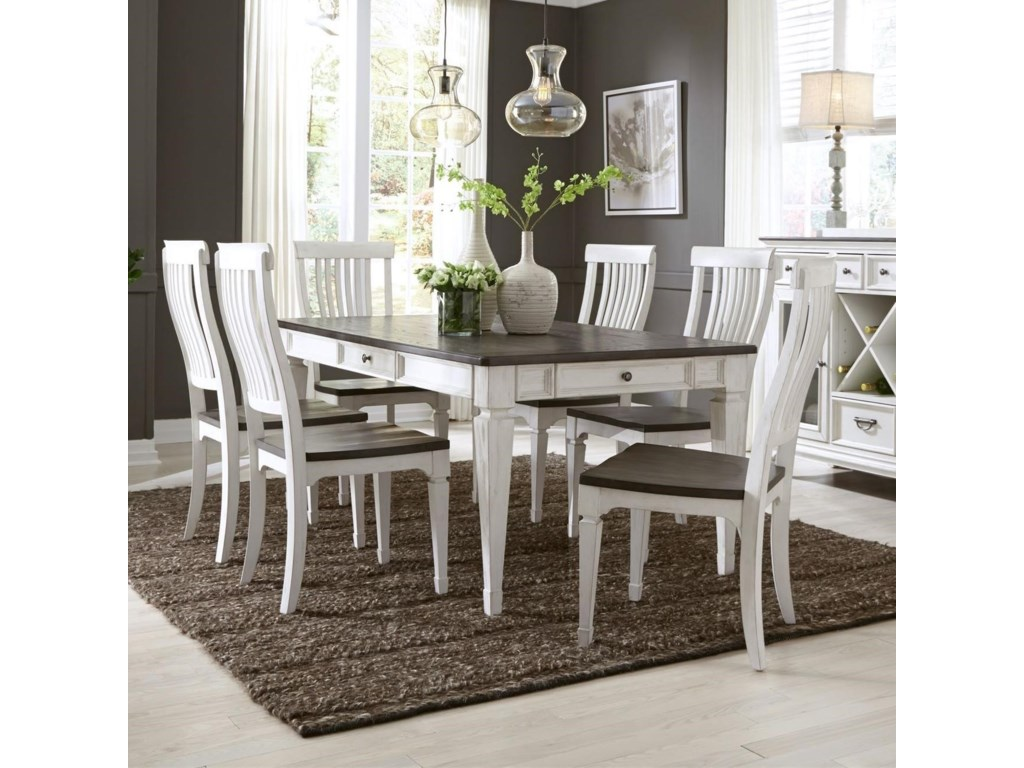 Sarah Randolph Designs Allyson Park7 Piece Rectangular Table Set