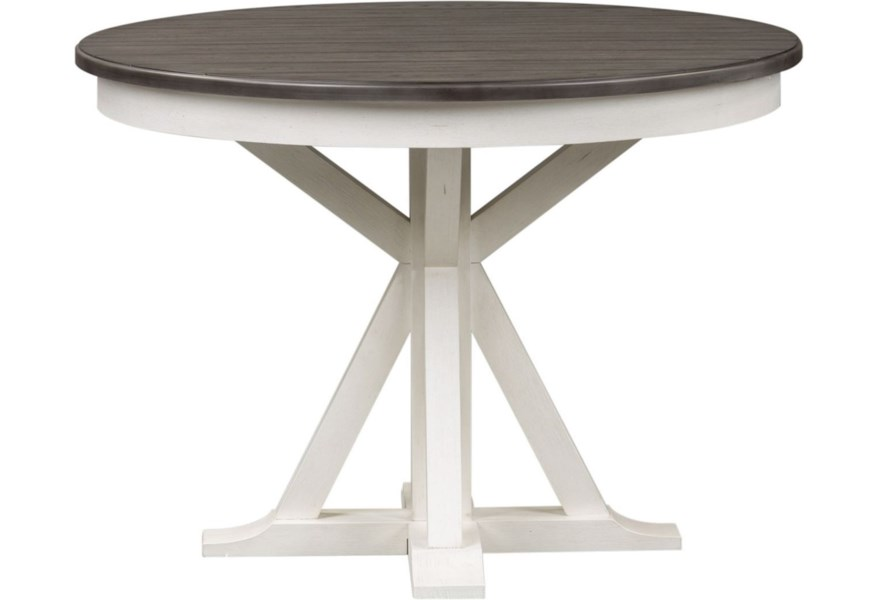 Liberty Furniture Allyson Park Cottage Pedestal Round Table With Leaf Lindy S Furniture Company Kitchen Tables