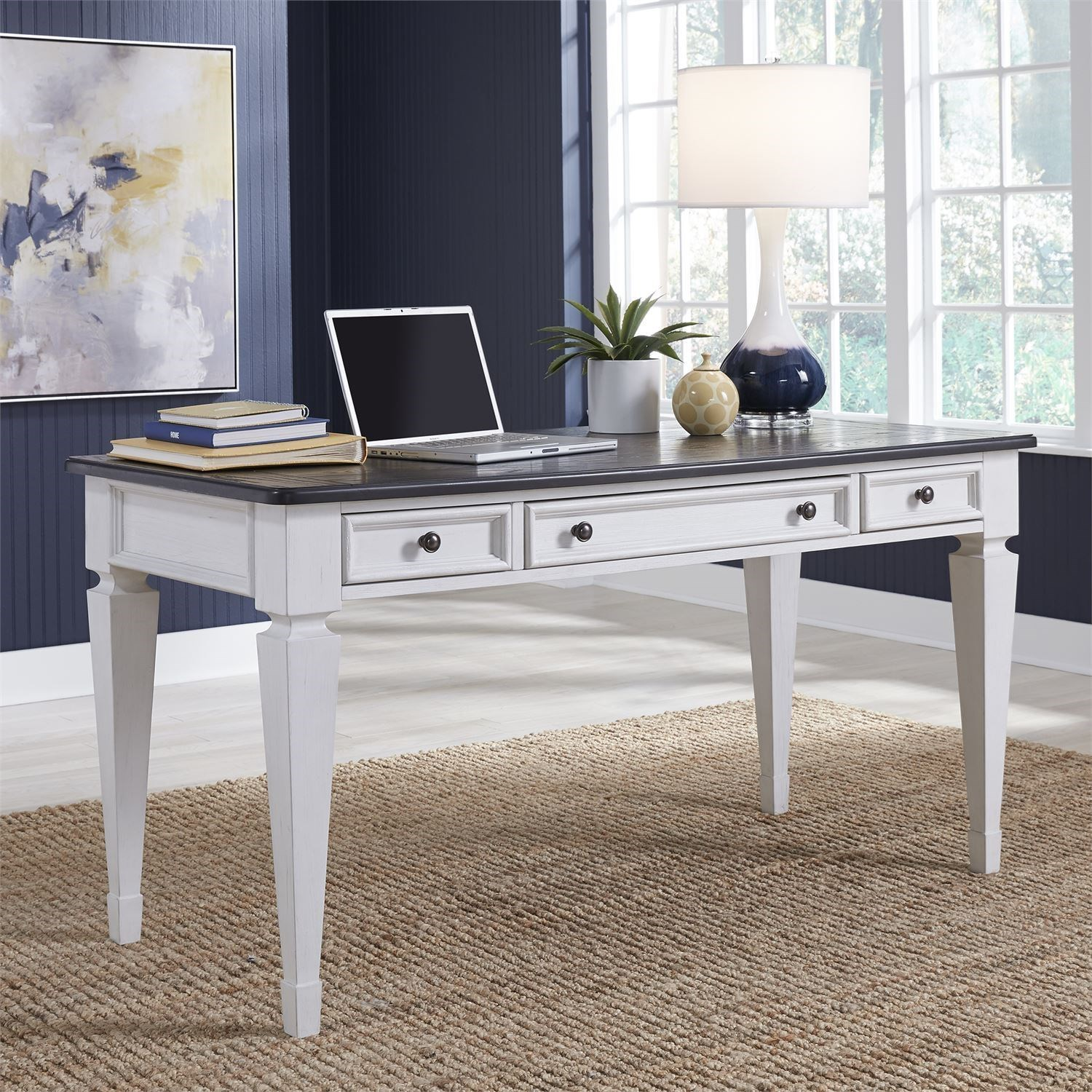 Transitional Two-Toned Writing Desk
