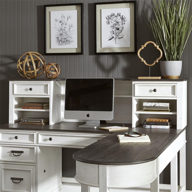 Liberty Furniture Allyson Park Transitional L Shaped Desk With Hutch Wayside Furniture Desk Hutch Sets