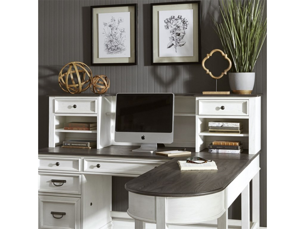 Liberty Furniture Allyson ParkL-Shaped Desk with Hutch