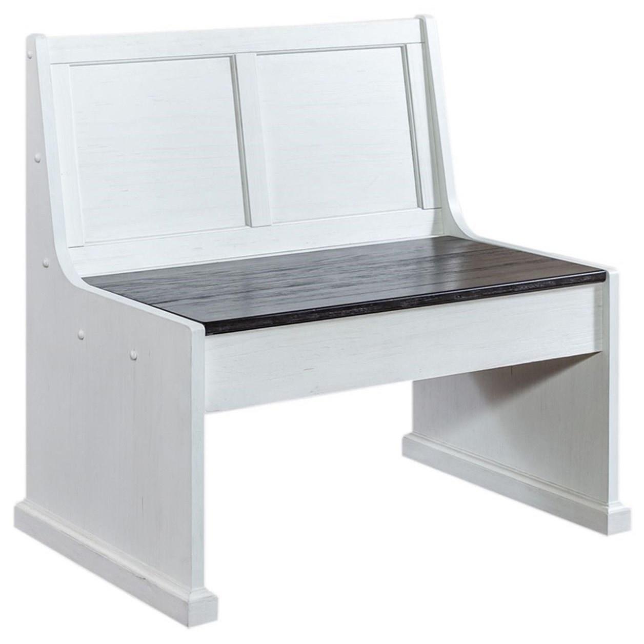 37 Inch Nook Modular Dining Bench with Hidden Storage