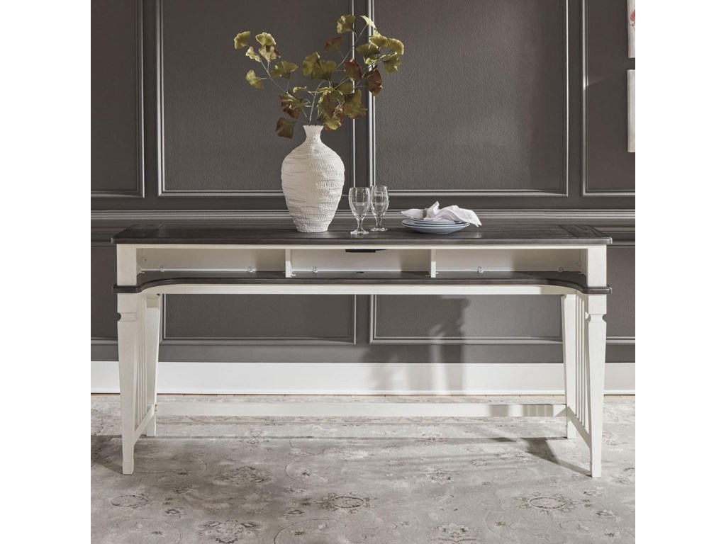 Liberty Furniture Allyson ParkConsole Bar Table