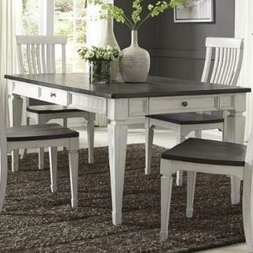 Liberty Furniture Allyson Park4 Drawer Rectangular Leg Table