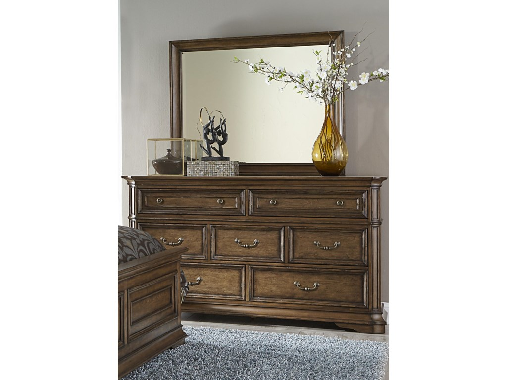 Liberty Furniture AmeliaDresser and Mirror