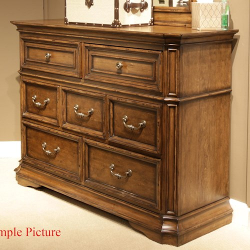 Liberty Furniture Amelia Traditional 7-Drawer Media Dresser with Light Distressing