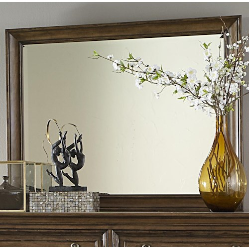 Liberty Furniture Amelia Traditional Dresser Mirror with Wooden Frame