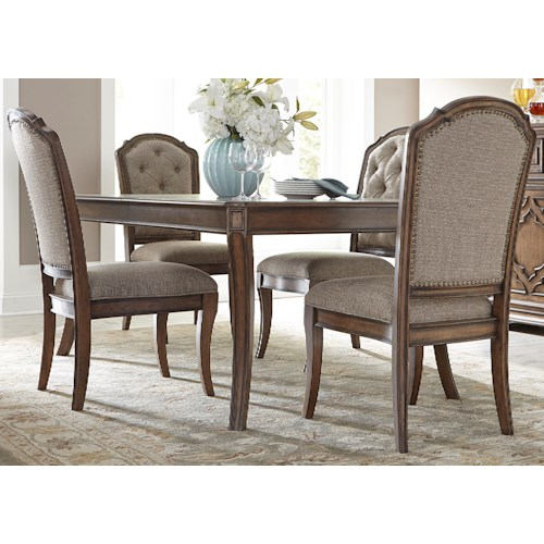 Liberty Furniture Amelia Dining 5 Piece Rectangular Table with 16
