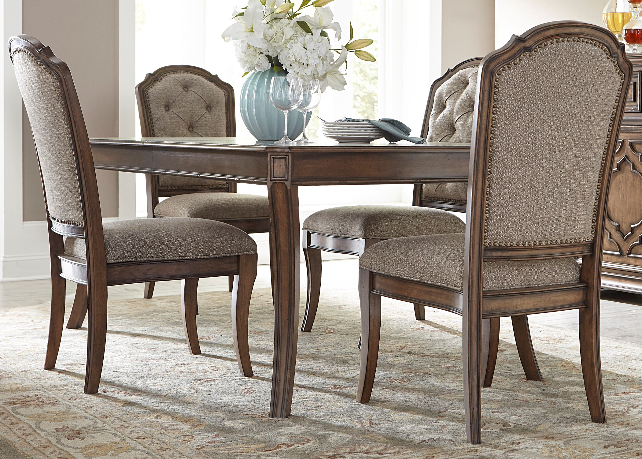 dining room tables with upholstered chairs. liberty furniture amelia dining 5 piece rectangular table with 16\ room tables upholstered chairs r