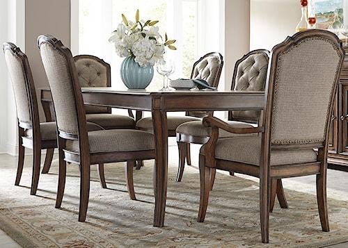 Liberty Furniture Amelia Dining 7 Piece Rectangular Table with 16