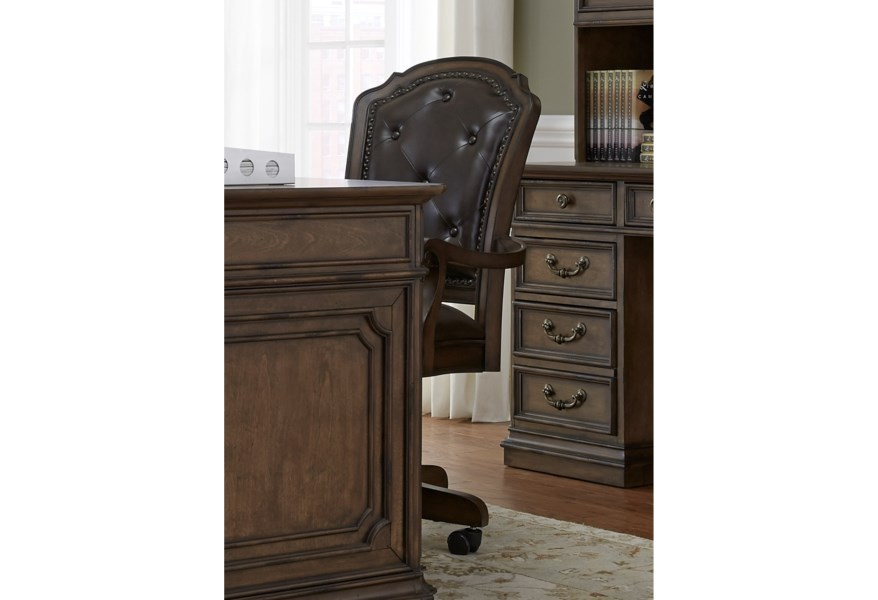 Liberty Furniture Amelia Home Office Traditional Executive Office Chair Zak S Home Executive Desk Chairs