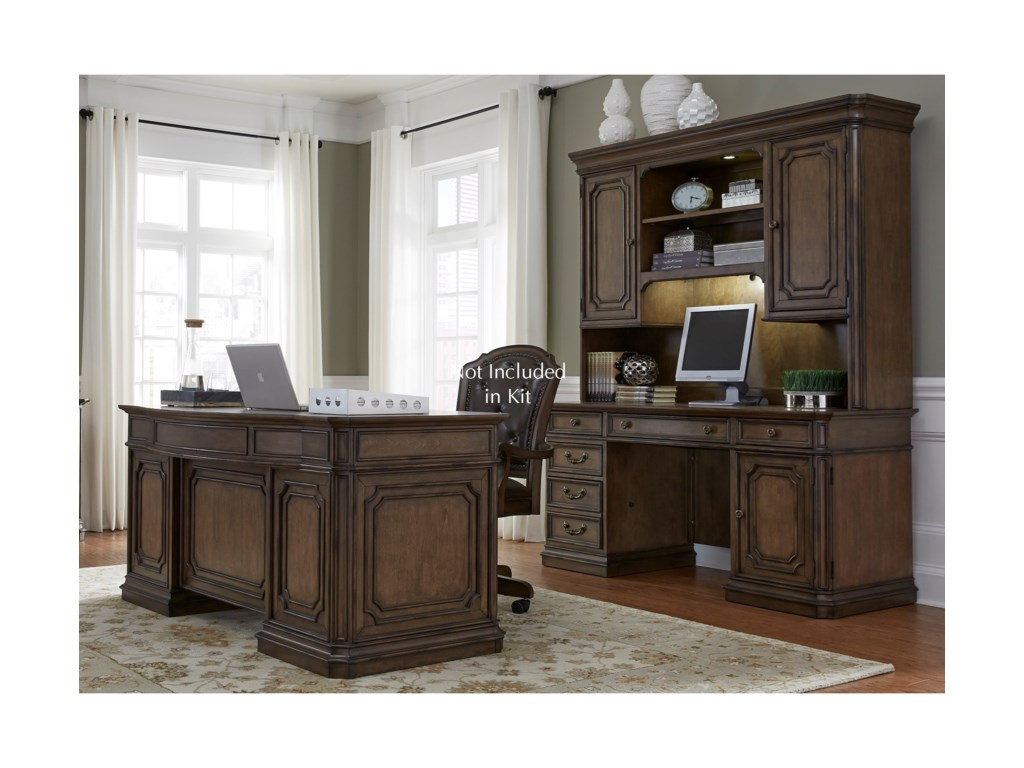 Vendor 5349 Amelia Home Office5 Piece Jr Executive Set