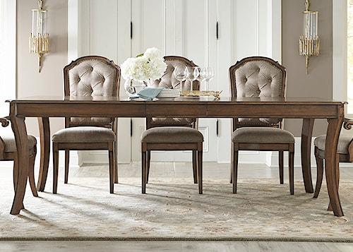 Liberty Furniture Amelia Dining Rectangular Leg Table with 16