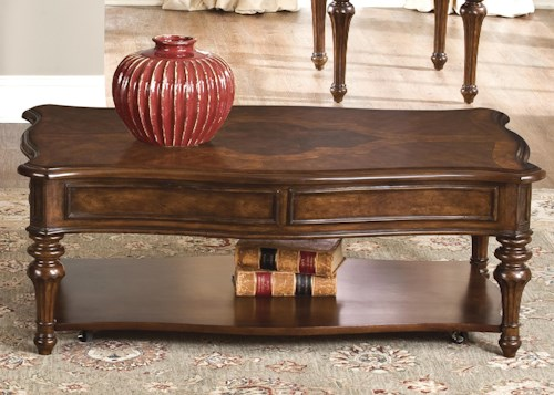 Liberty Furniture Andalusia Cocktail Table with Lower Shelf