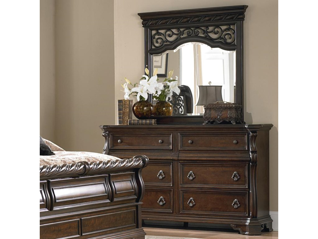 Liberty Furniture Arbor PlaceDresser and Mirror