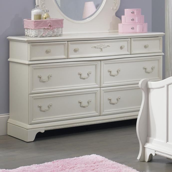 High Quality Liberty Furniture Arielle Youth Bedroom 7 Drawer Dresser With Felt Lined  Top Drawers