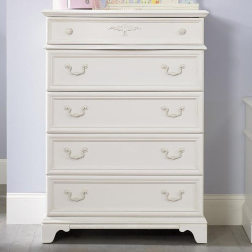 Liberty Furniture Arielle Youth Bedroom 5 Drawer Chest with Felt-Lined Top Drawer