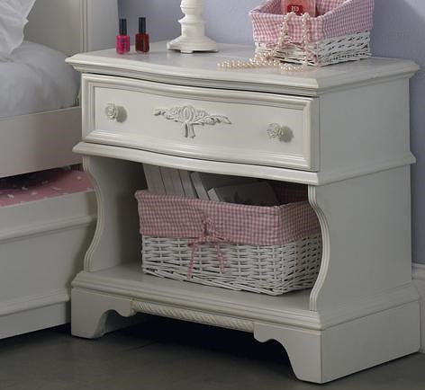 Liberty Furniture Arielle Youth Bedroom Traditional Night Stand with Drawer & Shelf