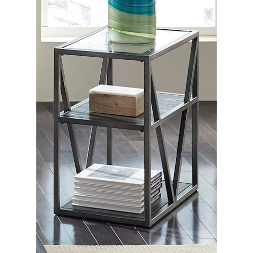 Liberty Furniture Arista Occasional Chair Side Table with Glass Top