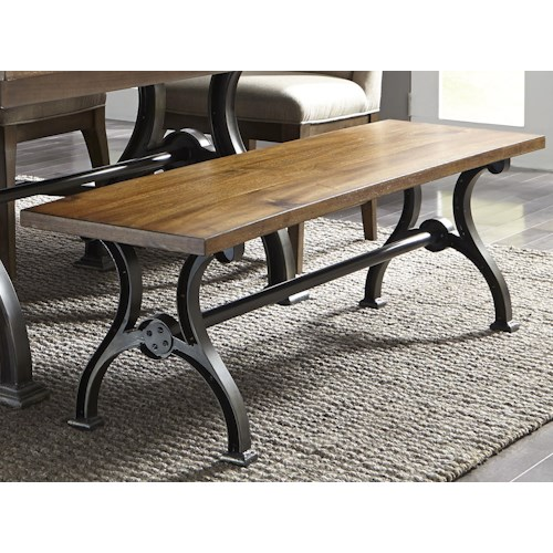 Liberty Furniture Emma Industrial Dining Bench