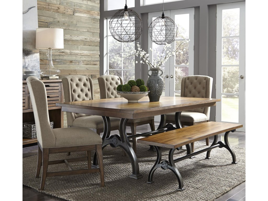 Liberty Furniture Arlington6 Piece Trestle Table Set with Bench