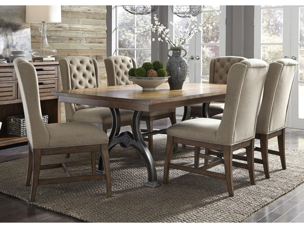 Liberty Furniture Arlington7 Piece Trestle Table Set