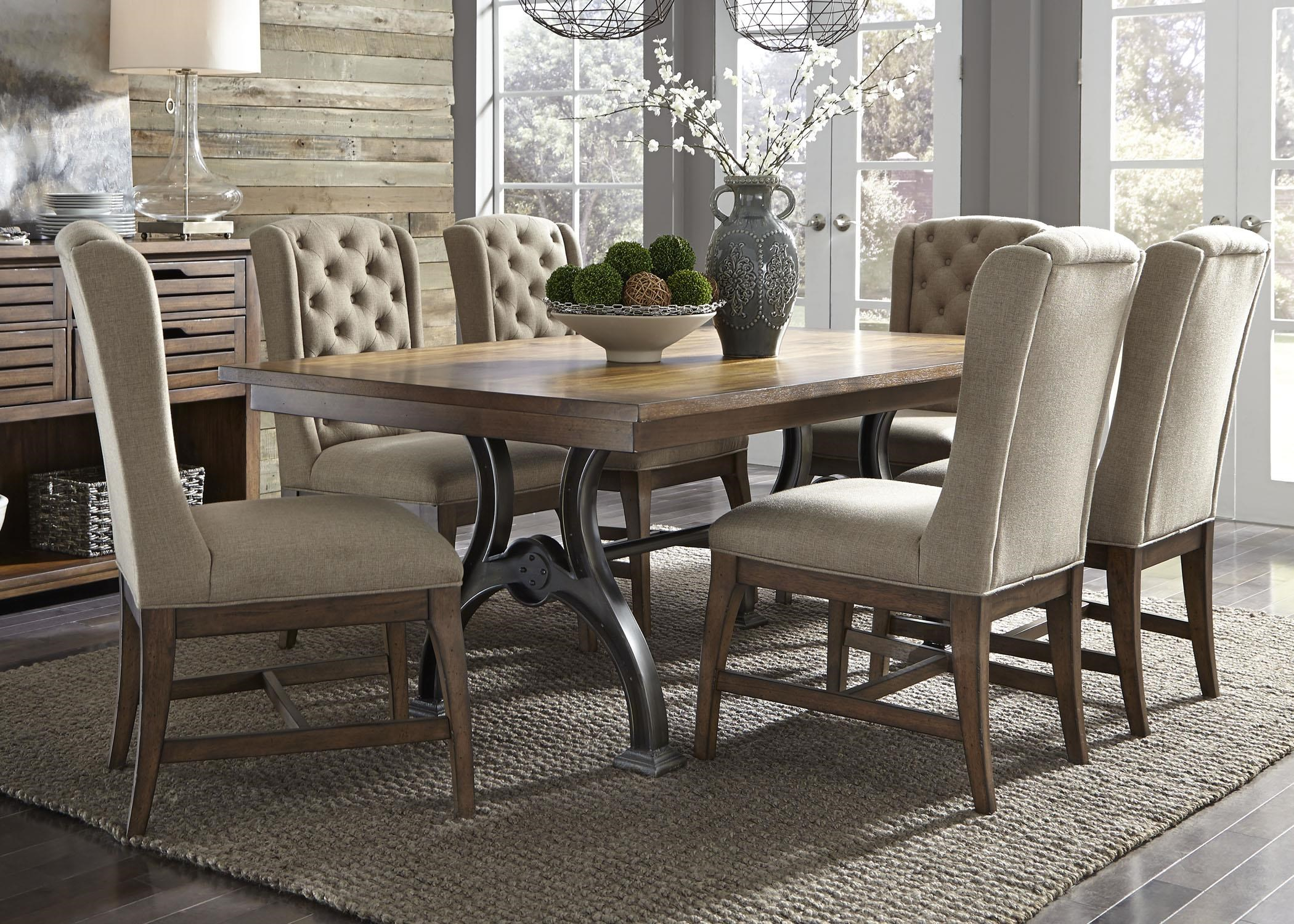 Arlington 7 Piece Trestle Table And Chair Set By Liberty Furniture