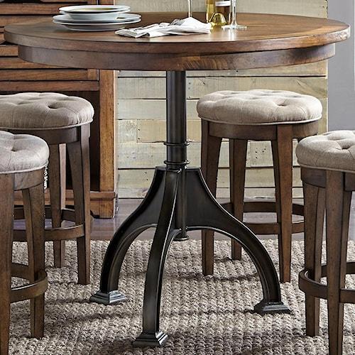 Liberty Furniture Arlington Round Gathering Table with Pedestal Base
