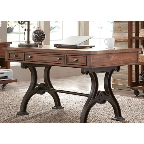 Liberty Furniture Arlington Writing Desk with 3 Dovetail Drawers