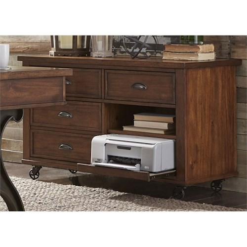 Liberty Furniture Arlington Credenza with Pull Out Printer Shelf