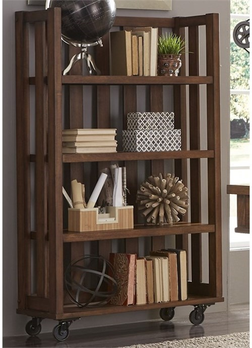 Liberty Furniture Arlington Open Bookcase with Casters