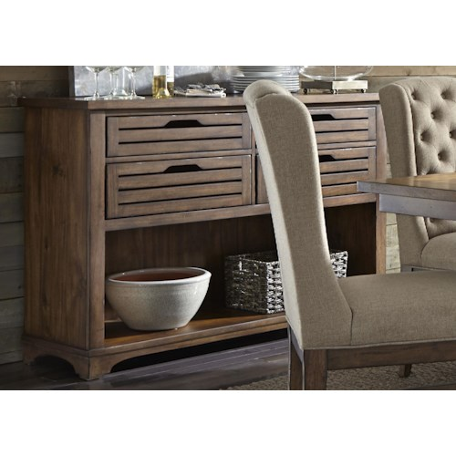Liberty Furniture Emma Dining Server with Dovetail Drawers