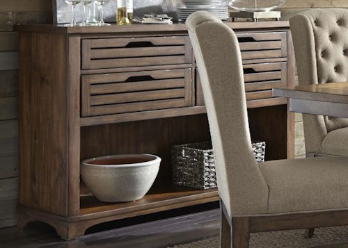 Liberty Furniture Arlington Dining Server with Dovetail Drawers