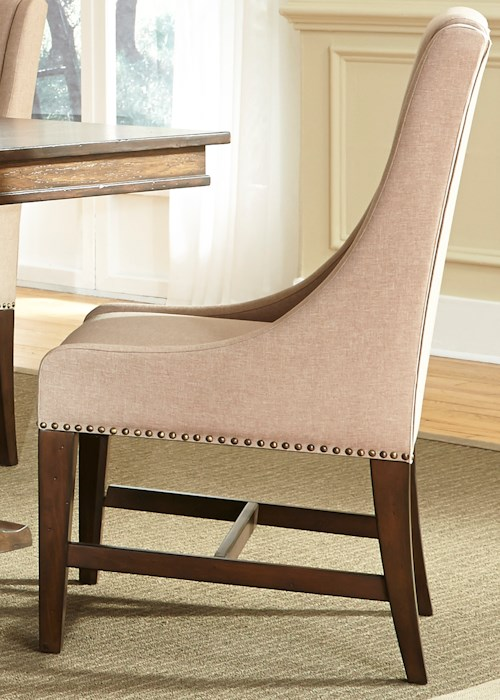 Liberty Furniture Armand Upholstered Side Chair with Nail Head Trim