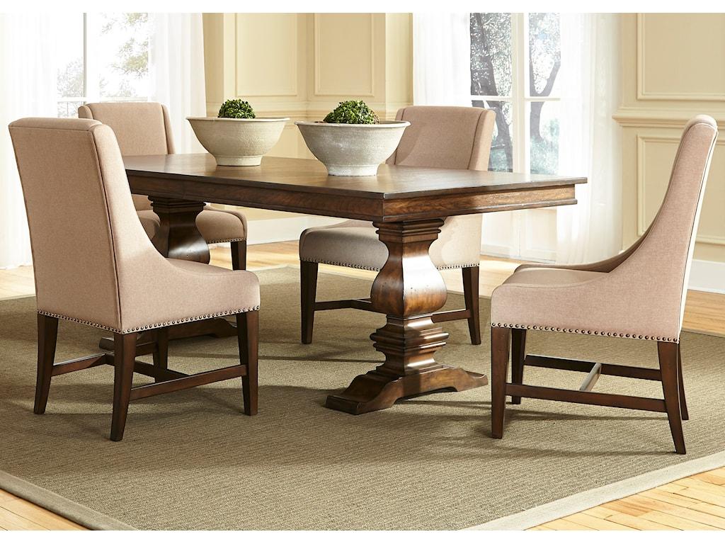 Liberty Furniture Armand5 Piece Trestle Table Set