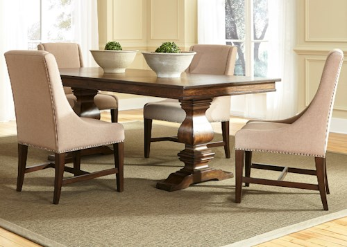 Liberty Furniture Armand 5 Piece Trestle Table Set