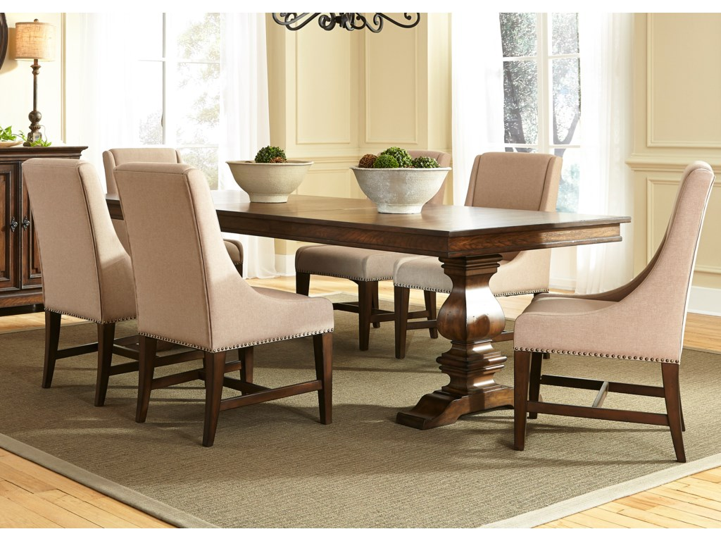 Liberty Furniture Armand7 Piece Trestle Table Set