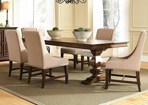 Liberty Furniture Armand 7 Piece Trestle Table Set