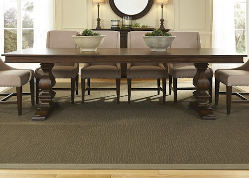 Liberty Furniture Armand Traditional Trestle Table