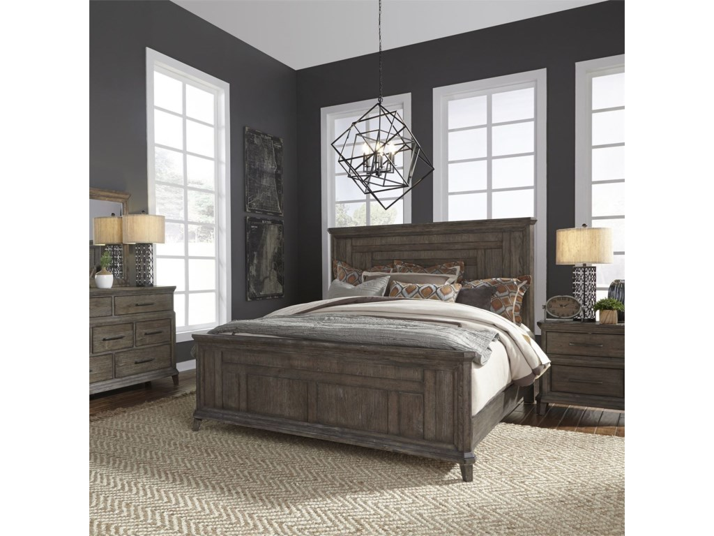 Liberty Furniture Artisan PrairieQueen Bedroom Group