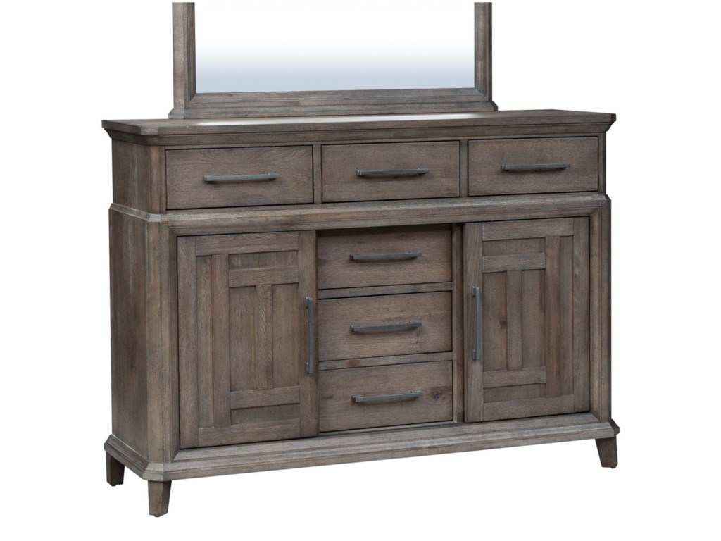 Liberty Furniture Artisan Prairie6 Drawer 2 Door Dresser