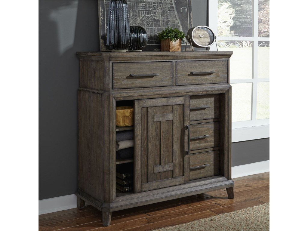 Liberty Furniture Artisan Prairie5 Drawer Chest with Doors