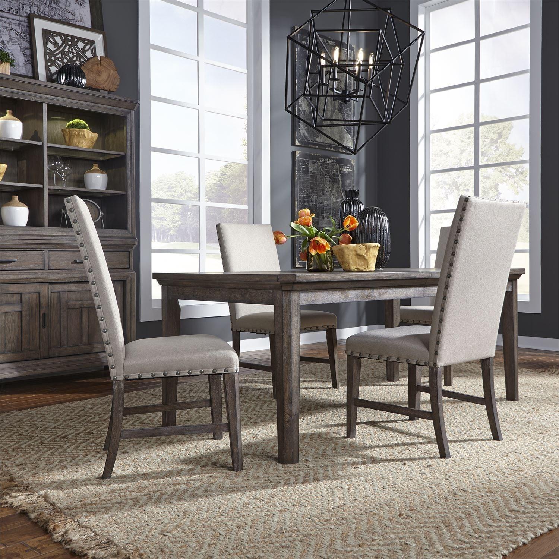 Transitional 5-Piece Rectangular Table Set